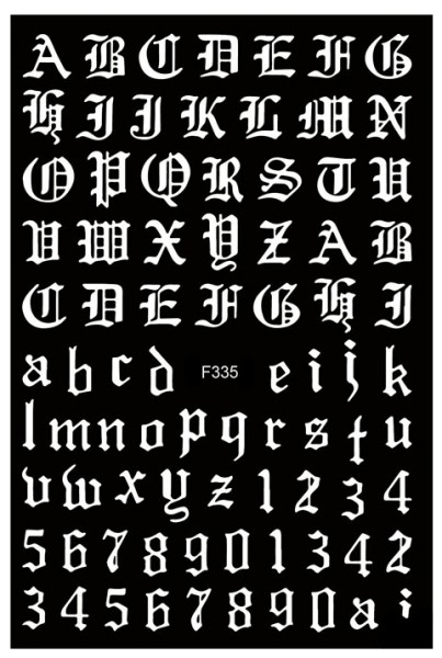 JUSTNAILS Sticker selbstklebend Buchstaben Letters weiß