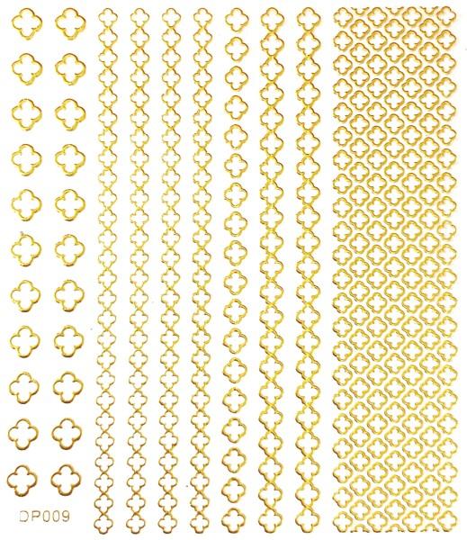 JUSTNAILS selbstklebende Sticker gold 009