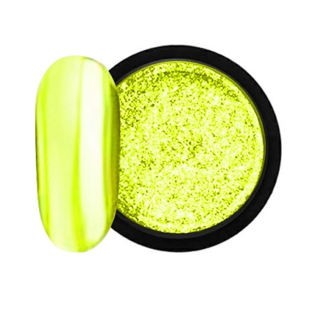 JUSTNAILS Mirror-Glow Nagel Pigment - Lemon Castle