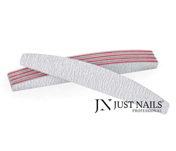 JUSTNAILS Feile Zebra Halbmond 100/180