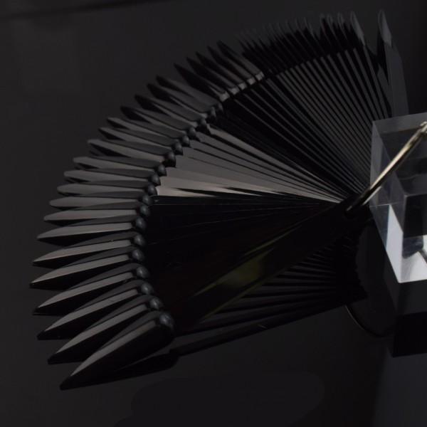 JUSTNAILS Display Tips Stiletto 40Stk. schwarz