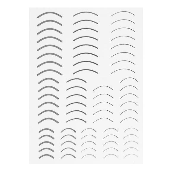 JUSTNAILS Flexible Stripes rund Set silber
