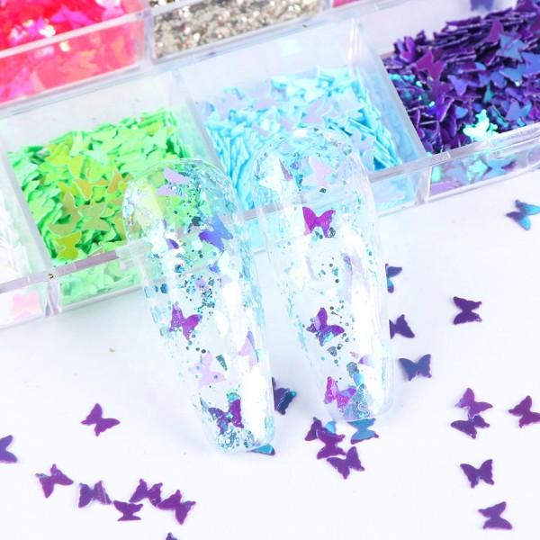 JUSTNAILS Butterfly Box Set Overlays Einlagen Schmetterlinge Nailart Set- 2