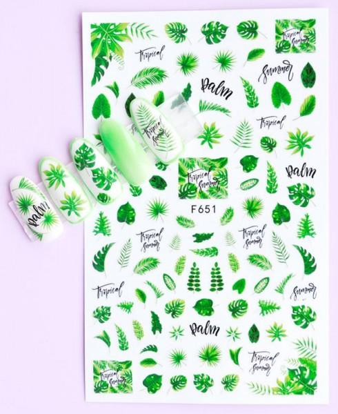 JUSTNAILS Sticker selbstklebend Blätter Palm leafes
