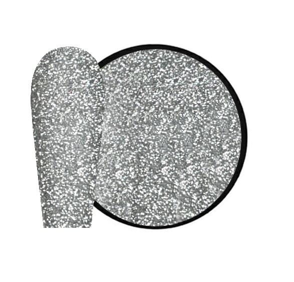JUSTNAILS New Flash Glitter 01 - silver